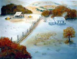 Landscapes, landscape painting, landscape artist, water landscape, snowlandscape, barns,buildings, animal artist