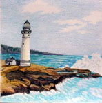 landscape art, landscape artist, portrait of landscape in colored pencil, landscapes, light houses,
