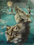 wildlife portrait, wolfe, wolves, wolf portrai, wildlife painting